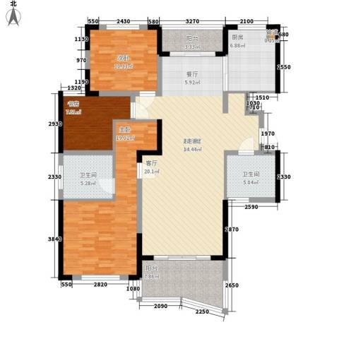 丰和新城3室0厅2卫1厨121.00㎡户型图