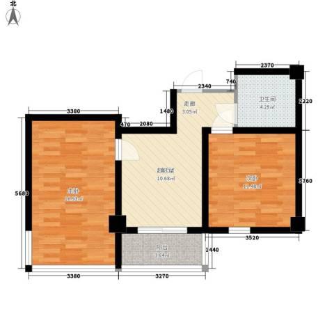 东方之珠龙兴苑2室0厅1卫0厨72.00㎡户型图