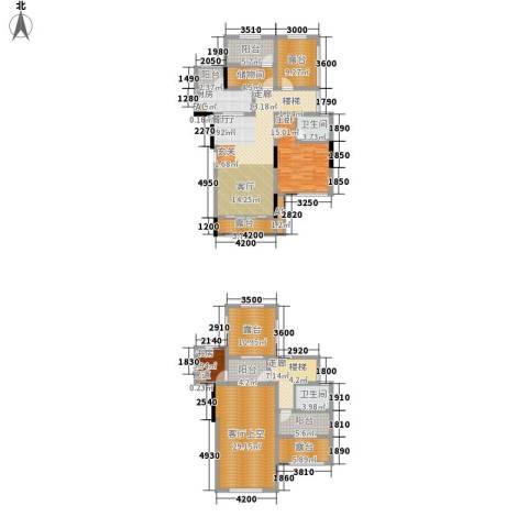 金科中央公园城2室1厅2卫1厨157.48㎡户型图