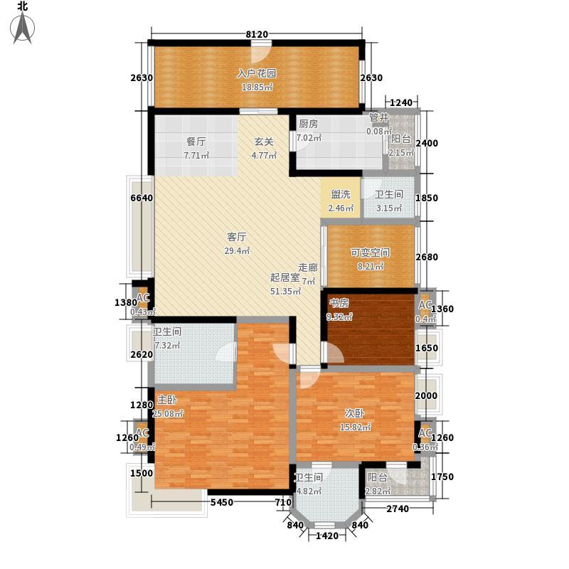 神仙树大院(高新)176.23㎡三期H3面积17623m户型