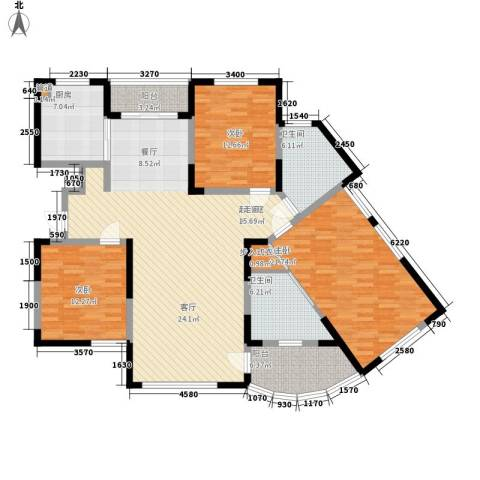 丰和新城3室0厅2卫1厨142.00㎡户型图