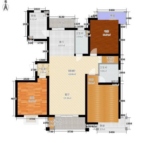 玫瑰993室1厅2卫1厨131.00㎡户型图
