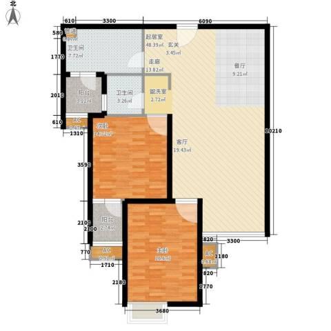 中远两湾城四期2室0厅2卫0厨139.00㎡户型图