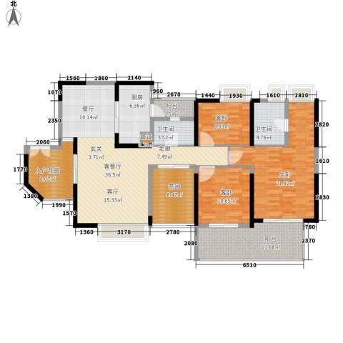 钢琴家 珠海3室1厅2卫1厨177.00㎡户型图