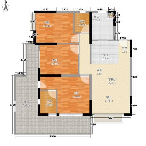 钢琴家 珠海3室1厅0卫1厨163.00㎡户型图