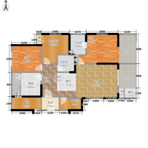 利通城南晶座2室1厅2卫1厨139.00㎡户型图