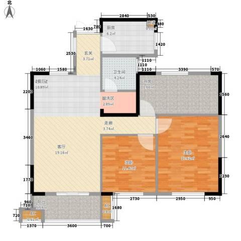 大成国际领域3室0厅1卫1厨109.00㎡户型图