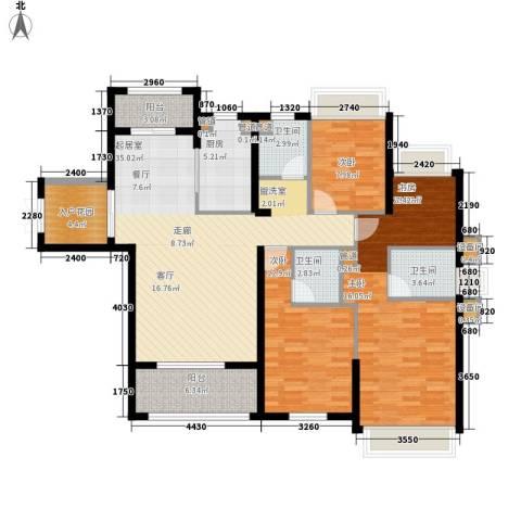 中洋公园首府3室0厅3卫1厨141.00㎡户型图