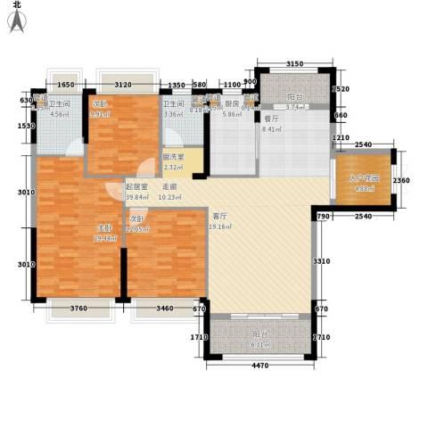 中洋公园首府3室0厅2卫1厨129.00㎡户型图