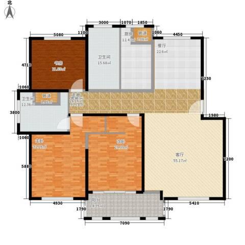 仁爱濠景庄园3室1厅2卫1厨260.00㎡户型图