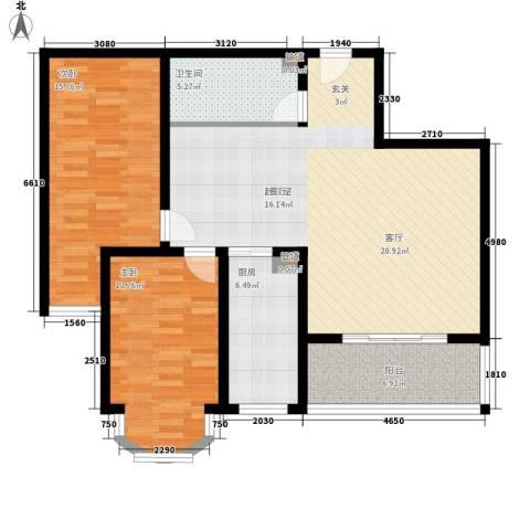 南波湾2室0厅1卫1厨119.00㎡户型图