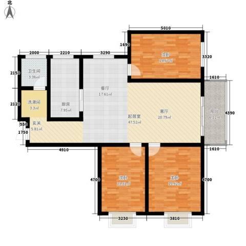 融广春天3室0厅1卫1厨154.00㎡户型图