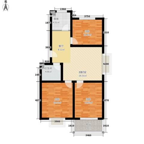 乐活城三期3室0厅1卫1厨110.00㎡户型图