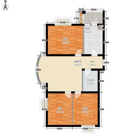 南波湾3室0厅1卫1厨126.00㎡户型图