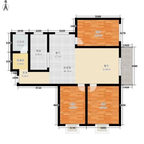 融广春天3室0厅1卫1厨152.00㎡户型图
