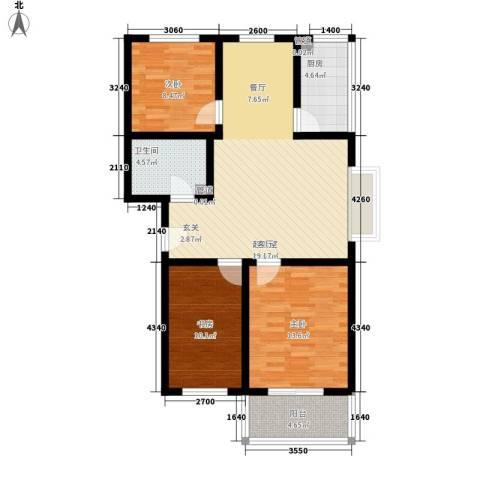 乐活城三期3室0厅1卫1厨108.00㎡户型图