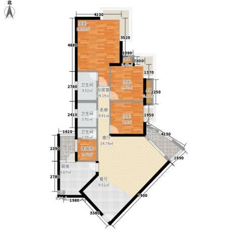 雍华庭四期3室0厅3卫1厨140.00㎡户型图