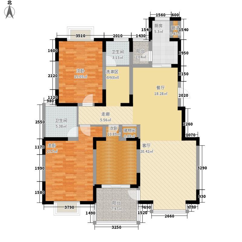 雍华府134.80㎡雍华府户型图3室2厅2卫户型10室
