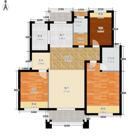 丁香公馆3室0厅2卫1厨119.00㎡户型图