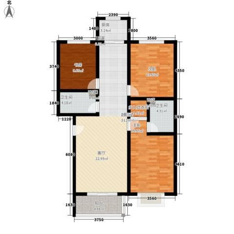 乐活城三期3室0厅2卫1厨134.00㎡户型图