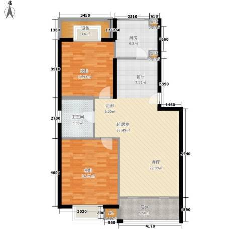 龙泽家园二期2室0厅1卫1厨98.00㎡户型图