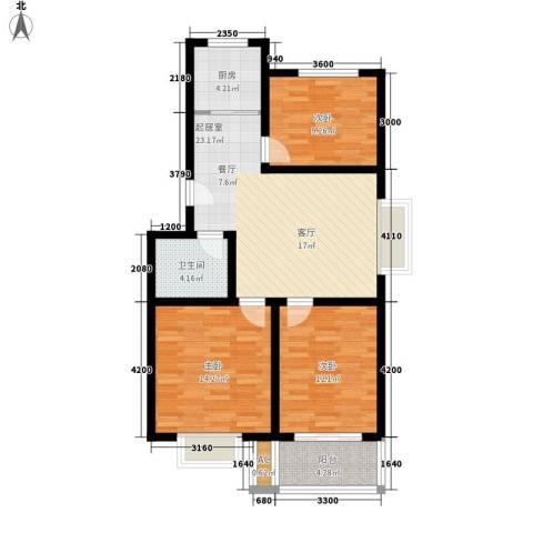 乐活城三期3室0厅1卫1厨95.00㎡户型图