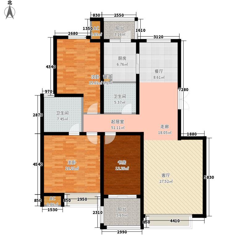 东壹区150.00㎡高层1-2号楼标准层A2户型