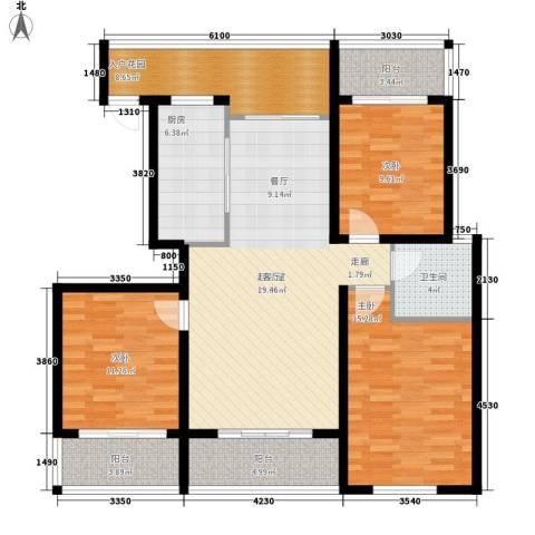 金鼎旺座3室0厅1卫1厨112.00㎡户型图