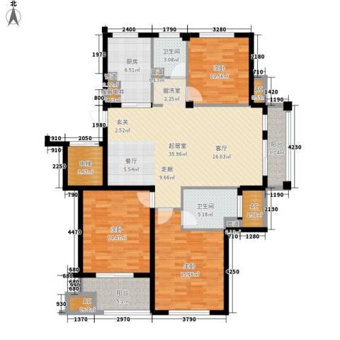 南岸花园东区3室0厅2卫1厨131.00㎡户型图