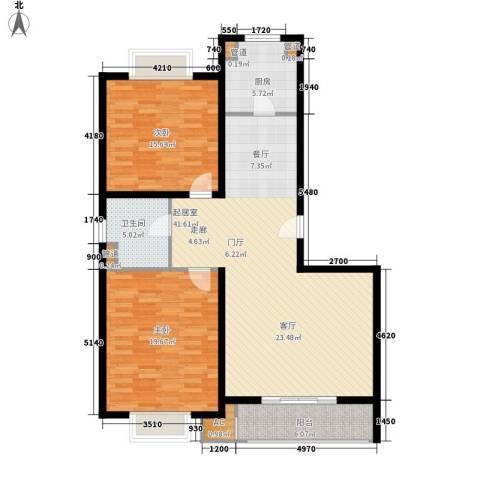 龙泽家园二期2室0厅1卫1厨108.00㎡户型图