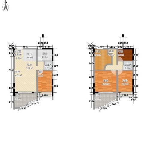 春江名都4室0厅2卫1厨103.76㎡户型图