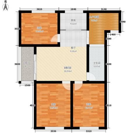金鼎旺座3室0厅1卫1厨97.00㎡户型图