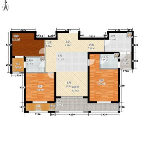 长江越领3室0厅2卫1厨135.00㎡户型图