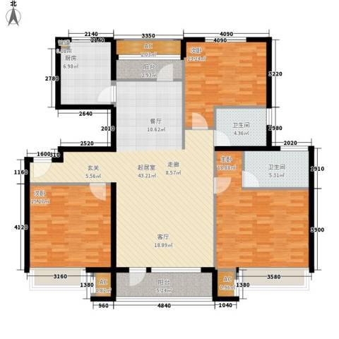 海亮公馆3室0厅2卫1厨138.00㎡户型图