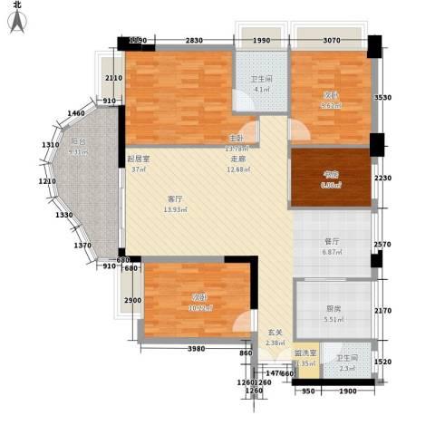 春江名都4室0厅2卫1厨97.90㎡户型图