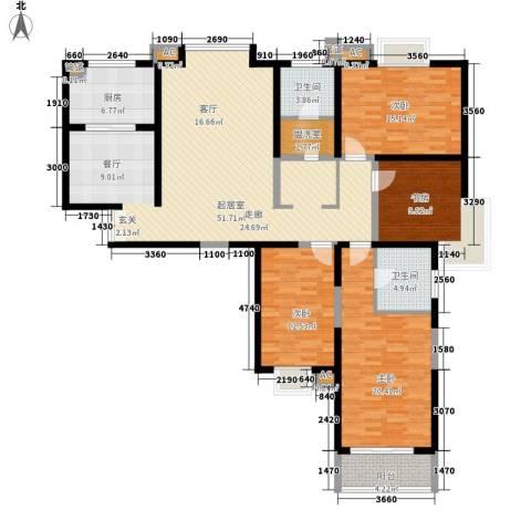 中天汇丽华城4室0厅2卫1厨179.00㎡户型图