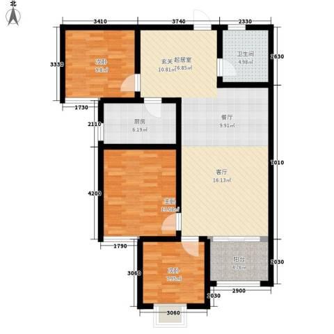 融广春天3室0厅1卫1厨120.00㎡户型图