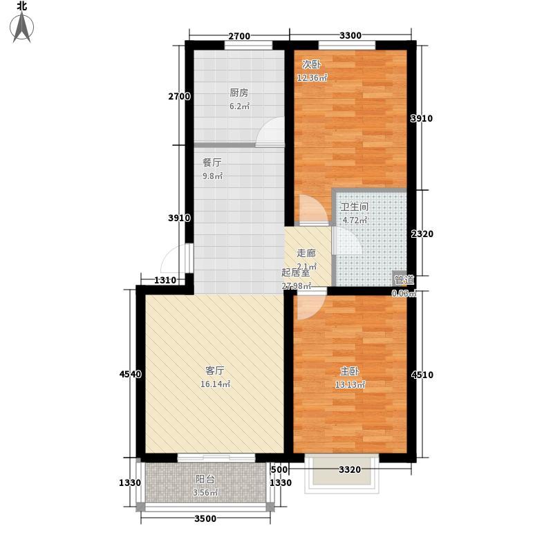 鼎盛花园鼎盛花园户型图户型C2两室两厅一卫(5/9张)户型10室