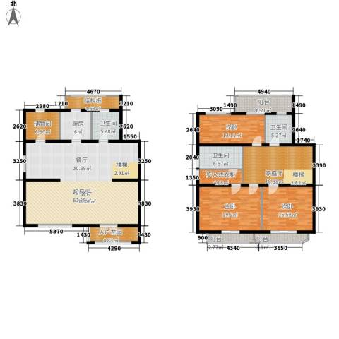新嘉坡城B区3室0厅3卫1厨261.00㎡户型图