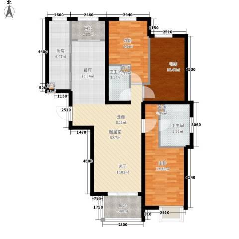 祥泰香榭花堤3室0厅2卫1厨101.57㎡户型图