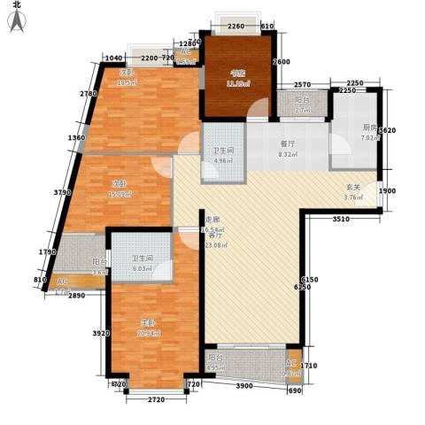 中远两湾城四期4室1厅2卫1厨168.00㎡户型图