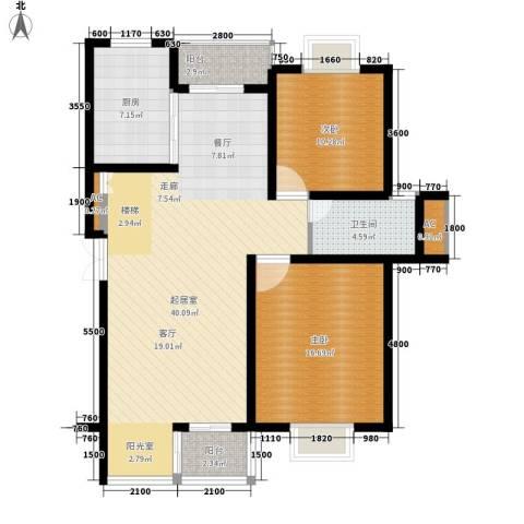 碧水云天2室0厅1卫1厨122.00㎡户型图