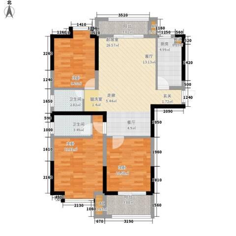 龙旺名城3室0厅2卫1厨116.00㎡户型图