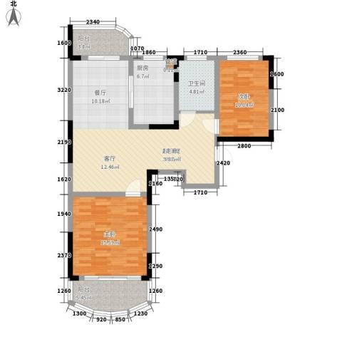 丰和新城2室0厅1卫1厨91.00㎡户型图