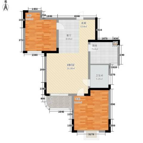 丰和新城2室0厅1卫1厨92.00㎡户型图