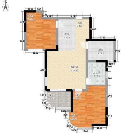 丰和新城2室0厅1卫1厨86.00㎡户型图