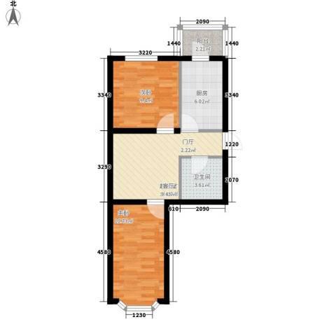 如意雅居2室0厅1卫1厨50.57㎡户型图