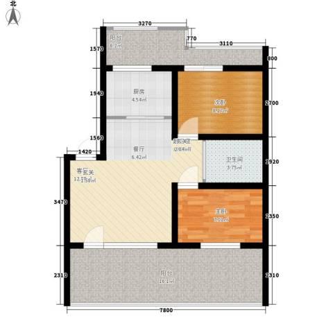 新嘉坡城B区2室0厅1卫1厨94.00㎡户型图