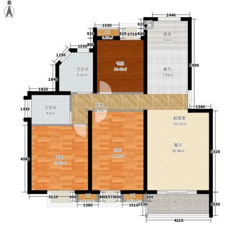 丽阳景苑二期3室0厅2卫0厨116.68㎡户型图