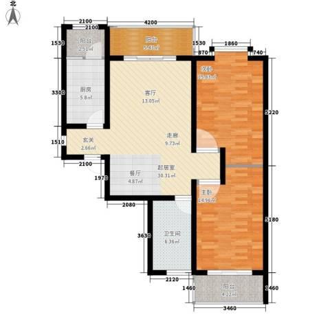 伟东城市精英领域2室0厅1卫1厨118.00㎡户型图
